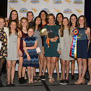 Lisa Sabo and students during the awards dinner at the 2017 United States Eventing Association Annual Convention in Long Beach, California.