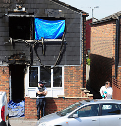© Licensed to London News Pictures. 07/08/2018<br /> DEPTFORD, UK.<br /> 7 year old boy found dead after suspicious house fire at Adolphus Street, Deptford.   Arson investigation has been launched.<br /> Photo credit: Grant Falvey/LNP