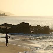 Fishing in Los Cabos along  the Sea of Cortez. Baja California Sur, Mexico.