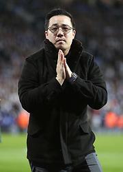 Aiyawatt Srivaddhanaprabha applauds fans after Leicester City v Burnley match