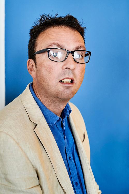 Tom Hodgkinson, writer / author. Paris, France. October 5, 2018.<br /> Tom Hodgkinson, auteur et ecrivain. Paris, France. 5 octobre 2018.