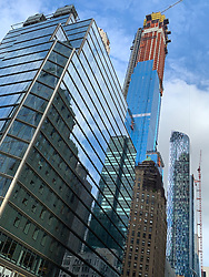 New Architecture on 57th Street in New York City, 2019