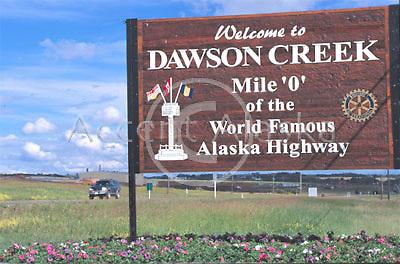 Canada. Dawson Creek. The start of the Alaska Highway.