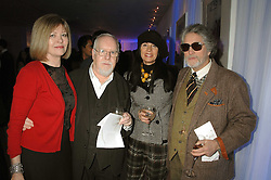 Left to right, SIR PETER & LADY BLAKE, SUE TIMNEY and  JUSTIN DE VILLENEUVE attending the Tag Heuer party where an exhibition of photographs by Mary McCartney celebrating 15 exception women from 15 countries was unveiled at the Royal College of Arts, Kensington Gore, London on 8th February 2007.<br /><br />NON EXCLUSIVE - WORLD RIGHTS