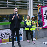 """Protest  against Priti Patel's a refugees daughter herself decision to only allow 5,000  Afghans refugees into Britain from Afghanistan this year is utterly shameful. The devastation that we labeled the Taliban """"divide and conquer"""" is causing the Afghan people to flee. What are the moral obligations regarding human rights and freedom of democracy in the United States and the United Kingdom introduced worldwide? to cling to the empire has fallen."""