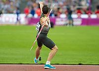 Athletics - 2017 IAAF London World Athletics Championships - Day Nine, Evening Session<br /> <br /> Mens Decathlon - Javelin<br /> <br /> Kai Kazmirek (Germany) launches the javelin at the London Stadium<br /> <br /> COLORSPORT/DANIEL BEARHAM