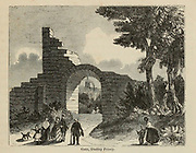 Gate at Dudley [West Midlands, England] Priory From the book The wanderings of a pen and pencil by Palmer, F. P. (Francis Paul); Illustrated by Crowquill, Alfred, [Alfred Henry Forrester]  Published in London by Jeremiah How in 1846