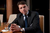 26 FEB 2009, BERLIN/GERMANY:<br /> Stephan Sturm, CFO Fresenius SE, waehrend einem Interview, nach der Preisverleihung des Best of European Business Awards, Franzoesische Botschaft<br /> IMAGE: 20090226-03-008