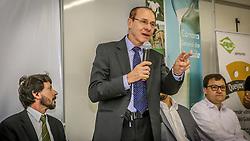 O Secretário da Agricultura Ernâni Polo durante o primeiro Seminário do Queijo na 38ª Expointer, que ocorrerá entre 29 de agosto e 06 de setembro de 2015 no Parque de Exposições Assis Brasil, em Esteio. FOTO: Jefferson Bernardes/ Agência Preview