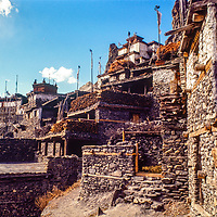Braga Village in the Manang Valley, north of Annapurna in Nepal.