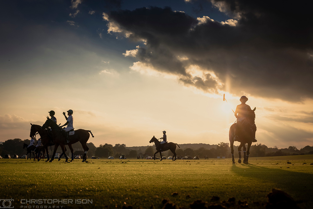 End of season polo at Cowdray Park Polo Club. Midhurst, West Sussex.<br /> Picture date: Wednesday September 15, 2021.<br /> Photograph by Christopher Ison ©<br /> 07544044177<br /> chris@christopherison.com<br /> www.christopherison.com<br /> <br /> IMPORTANT NOTE REGARDING IMAGE LICENCING FOR THIS PHOTOGRAPH: This image is supplied to the client under the terms previously agree. No sales are permitted unless expressly agreed in writing by the photographer.