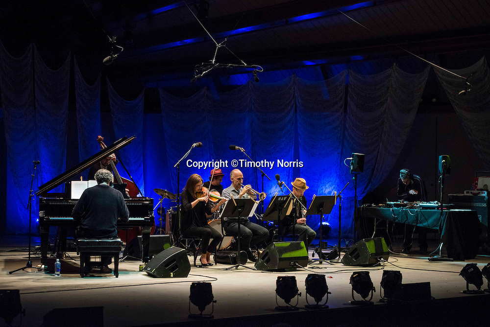 Uri Caine Sextet performs the music of George Gershwin, reimagined and improvised at the 68th Ojai Music Festival at Libbey Park on June 13, 2014 in Ojai, California.