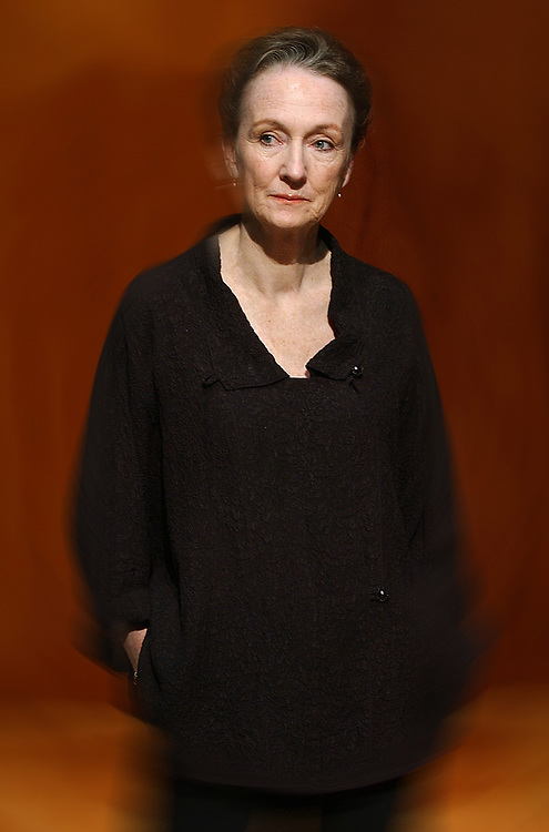"""Arts4/12/06 3Chalfant<br /> Actress Kathleen Chalfant on the set of Yale Rep's """"All's Well that Ends Well."""" Photo by Mara Lavitt"""