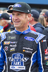 June 10, 2018 - Brooklyn, Michigan, U.S - NASCAR driver CLINT BOWYER (14) walks in the pit area at Michigan International Speedway. (Credit Image: © Scott Mapes via ZUMA Wire)