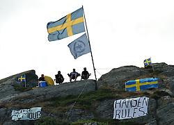 Hansen fans watching the semi final. Photo: Chris Davies/WMRT
