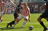 Stoke city's Charlie Adam © in action. Premier league match, Stoke City v Liverpool at the Bet365 Stadium in Stoke on Trent, Staffs on Saturday 8th April 2017.<br /> pic by Bradley Collyer, Andrew Orchard sports photography.