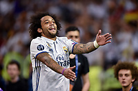 Marcelo of Real Madrid Celebrate the winning of the Champions League during the UEFA Champions League Final match between Real Madrid and Juventus at the National Stadium of Wales, Cardiff, Wales on 3 June 2017. Photo by Giuseppe Maffia.<br /> <br /> Giuseppe Maffia/UK Sports Pics Ltd/Alterphotos