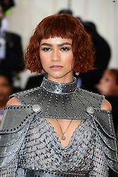 Zendaya attending the Metropolitan Museum of Art Costume Institute Benefit Gala 2018 in New York, USA. PRESS ASSOCIATION Photo. Picture date: Picture date: Monday May 7, 2018. See PA story SHOWBIZ MET Gala. Photo credit should read: Ian West/PA Wire