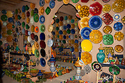 Interior decorations of glass in a house in a Remote, rural village in Morocco
