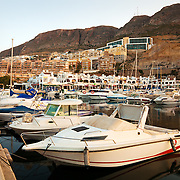 The harbor in Aguadulce near Almeria, Spain.