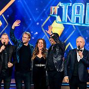 NLD/Baarn/20180410 - 2018 finale 'It Takes 2, Jamai loman, Leo Alkemade, Dionne Slagter, Jorgen Raymann en Gordon Heuckeroth