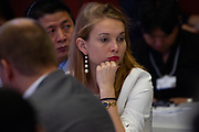A participant listens during the session: The Future Is Platforms at the World Economic Forum - Annual Meeting of the New Champions in Tianjin, People's Republic of China 2018.Copyright by World Economic Forum / Greg Beadle the session: The Future Is Platforms at the World Economic Forum - Annual Meeting of the New Champions in Tianjin, People's Republic of China 2018.Copyright by World Economic Forum / Greg Beadle