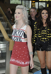 © Licensed to London News Pictures. 30/08/2012.Little Mix book signing at Bluewater shopping complex in Kent.. X-Factor star Perrie Edwards..Photo credit : Grant Falvey/LNP