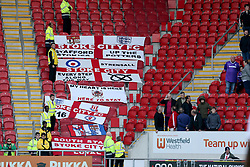 Stoke city flagsin the stands