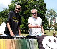 Bez and Leeroy Thornhillat the launch party for  the Mucky Weekender Festival.,taking place 10-11 September at the Vicarage Farm, Winchester.photo by Dawn Fletcher Park