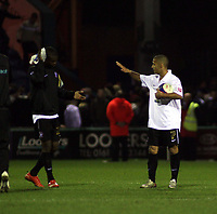 Photo: Mark Stephenson/Sportsbeat Images.<br /> Stockport County v Hereford United. Coca Cola League 2. 17/11/2007.Lional Ainworth (R) and Theo Robinson after the game