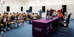 February 10, 2019 - Doha, QATAR - Elina Svitolina of the Ukraine during a Kids Press Conference at the 2019 Qatar Total Open WTA Premier tennis tournament (Credit Image: © AFP7 via ZUMA Wire)