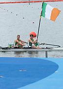"Rio de Janeiro. BRAZIL. Lightweight men's double sculls, Silver Medalist, IRL LM2X. <br /> Gary  O'DONOVAN and Paul O'DONOVAN, Paul 2016  2016 Olympic Rowing Regatta. Lagoa Stadium, Copacabana,  ""Olympic Summer Games"" Rodrigo de Freitas Lagoon, Lagoa. Local Time 16:37:19  Friday  12/08/2016 <br /> [Mandatory Credit; Peter SPURRIER/Intersport Images]"