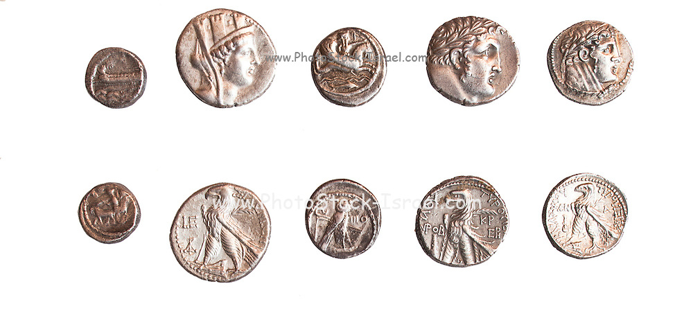 set of 5 Phoenician Coins from Sidon and Tyre (private collection)