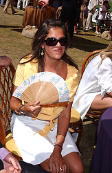 Artist TRACEY EMIN at the Veuve Clicquot sponsored Gold Cup Final or the British Open Polo Championship held at Cowdray Park, West Sussex on 17th July 2005.<br />