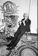 Col. Gerald Draper & Mrs. Gerald Draper at the Mark Florman/Alexia Anninos wedding reception. Hyde Park Hotel. 14 March 1987. Film 87153f10<br /> © Copyright Photograph by Dafydd Jones<br /> 66 Stockwell Park Rd. London SW9 0DA<br /> Tel 0171 733 0108