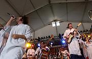 Polyphonic Spree, 2003 Bonnaroo Music Festival.Manchester, TN.Photo by Bryan Rinnert