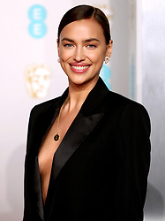 Irina Shayk attending the 72nd British Academy Film Awards held at the Royal Albert Hall, Kensington Gore, Kensington, London.
