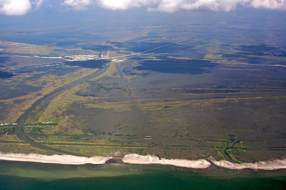 Coastline near Port Fourchon, Louisiana, USA