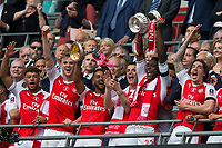 Arsenal's Danny Welbeck celebrates with the trophy    <br /> <br /> <br /> Photographer Craig Mercer/CameraSport<br /> <br /> The Emirates FA Cup Final - Arsenal v Chelsea - Saturday 27th May 2017 - Wembley Stadium - London<br />  <br /> World Copyright © 2017 CameraSport. All rights reserved. 43 Linden Ave. Countesthorpe. Leicester. England. LE8 5PG - Tel: +44 (0) 116 277 4147 - admin@camerasport.com - www.camerasport.com
