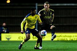 Marcus McGuane of Oxford United takes on Alfie Kilgour of Bristol Rovers - Mandatory by-line: Robbie Stephenson/JMP - 06/10/2020 - FOOTBALL - Kassam Stadium - Oxford, England - Oxford United v Bristol Rovers - Leasing.com Trophy