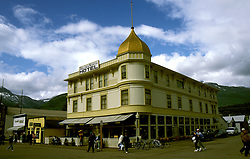 AK: Skagway, Alaska, Historic Golden North Hotel  .Photo Copyright: Lee Foster, lee@fostertravel.com, www.fostertravel.com, (510) 549-2202.Image: akklon203