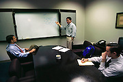 Silicon Valley, California; Guy Kawasaki pitches his ideas for garage.com to Tim Draper & Steve Jurvetson. Tim Draper and Steve Jurvetson are partners in Draper, Fisher, Jurvetson, one of the leading Silicon Valley venture capital firms. (1999).