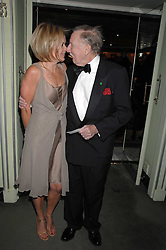LESLIE PHILLIPS and MARIELLA FROSTRUP attending the 27th Awards of the London Film Critics' Circle 2007 in aid of the NSPCC held at The Dorchester, Park Lane, London on 8th February 2007.<br /><br />NON EXCLUSIVE - WORLD RIGHTS