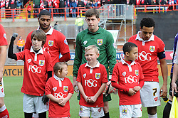 Bristol City mascots - Photo mandatory by-line: Dougie Allward/JMP - Mobile: 07966 386802 - 25/01/2015 - SPORT - Football - Bristol - Ashton Gate - Bristol City v West Ham United - FA Cup Fourth Round