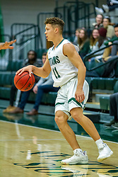 BLOOMINGTON, IL - November 12: Keondre Schumacher during a college basketball game between the IWU Titans  and the Blackburn Beavers on November 12 2019 at Shirk Center in Bloomington, IL. (Photo by Alan Look)