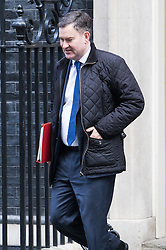 Downing Street, London, January 17th 2017. Chief Secretary to the Treasury David Gauke leaves 10 Downing Street following the weekly cabinet meeting, ahead of Prime Minister Theresa May's key Brexit speech.