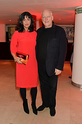 DAVID GILMOUR and POLLY SAMSON at the Costa Book Awards 2013 held at Quaglino's, 16 Bury Street, London on 28th January 2014.