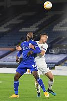 Football - 2020 / 2021 Europa League - Group F - Leicester City vs Zorya Luhansk - King Power Stadium<br /> <br /> Leicester City's Kelechi Iheanacho holds off the challenge from Zorya Luhansk's Lovro Cvek.<br /> <br /> COLORSPORT/ASHLEY WESTERN