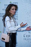 Queen Rania of Jordan visit MediaLab Prado, citizen production laboratory, research and dissemination of cultural projects, on November 19, 2015 in Madrid