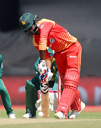 Cape Town-181006- Zimbabwean opening batsman Solomon Mire batting against South Africa in the 3rd ODI match at Boland Park cricket stadium. .Photographer:Phando Jikelo/African News Agency(ANA)